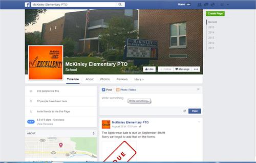 McKinley PTO - Facebook - Like Us!