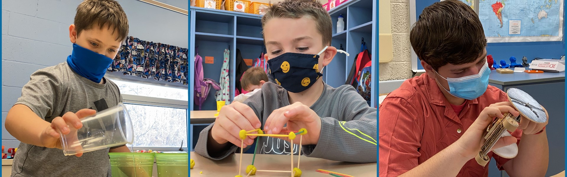 K-12 students working on STEM related projects